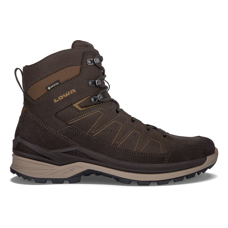 Lowa Toro Evo GTX Mid - Dark Brown/Taupe - Baker's Boots and Clothing