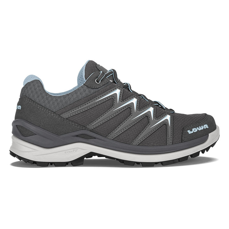 Lowa Innox Pro Lo Women's- Graphite/Ice Blue - Baker's Boots and Clothing