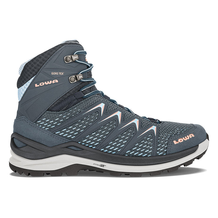 Lowa Innox Pro GTX Mid Women's- Steel Blue/Salmon - Baker's Boots and Clothing