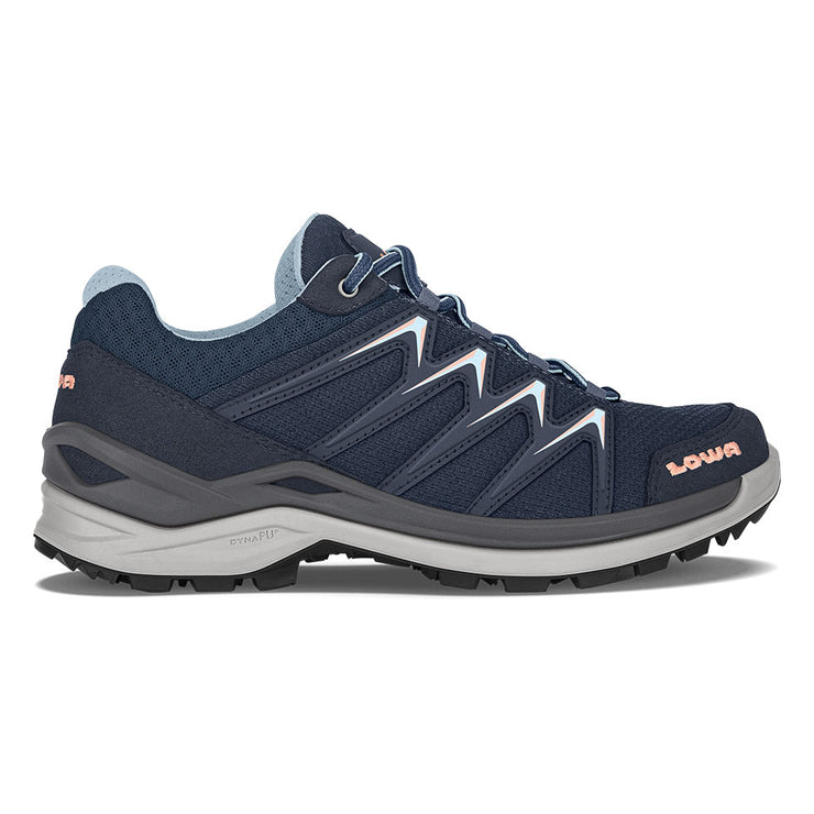 Lowa Innox Pro GTX Lo Women's- Navy/Salmon - Baker's Boots and Clothing