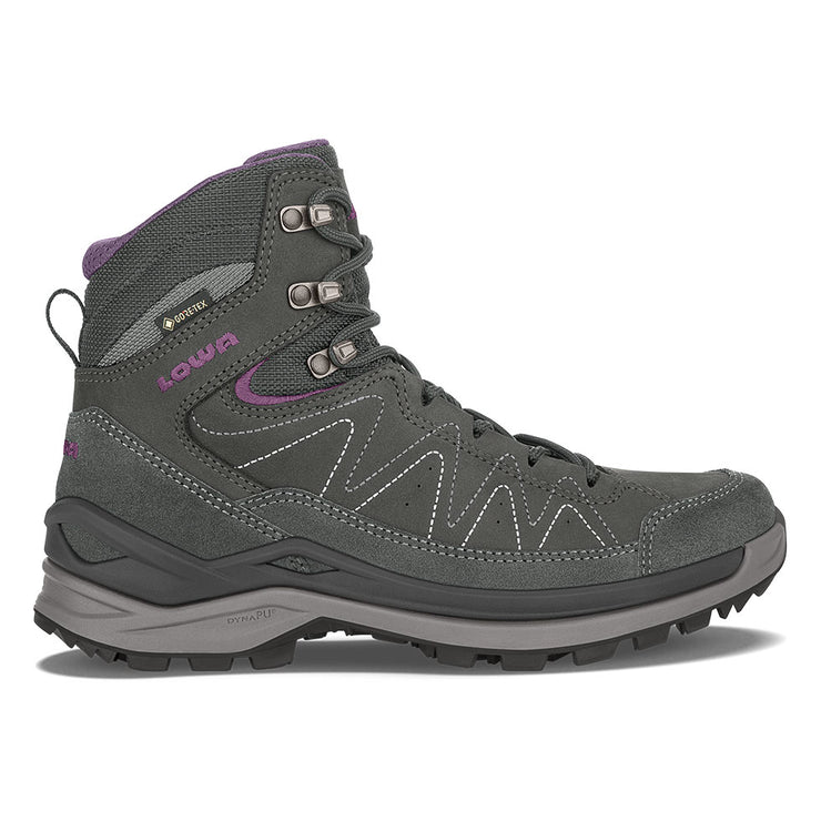 Lowa Toro Evo GTX Mid Women's- Anthracite & Eggplant - Baker's Boots and Clothing