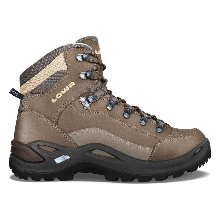 Lowa Renegade LL Mid Women's- Stone - Baker's Boots and Clothing