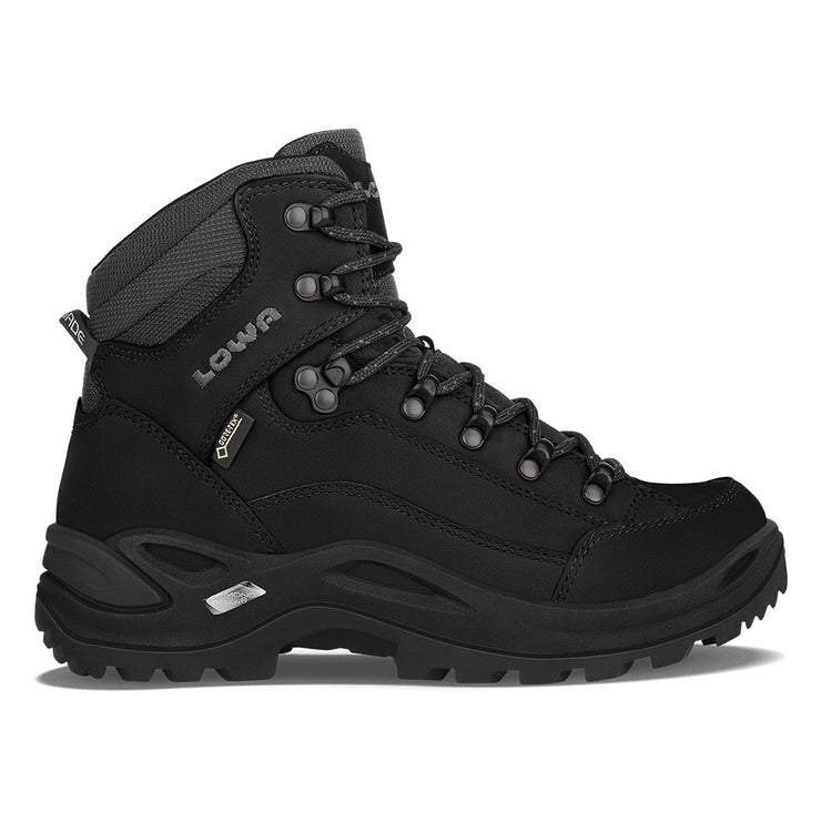 Lowa Renegade GTX Mid Women's- Deep Black - Baker's Boots and Clothing