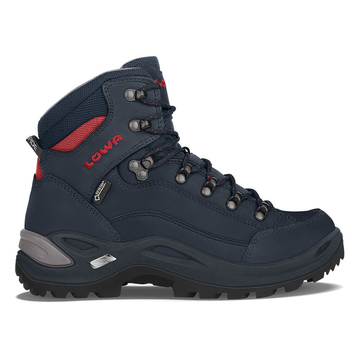 Lowa Renegade GTX Mid Women's- Navy/Terracotta - Baker's Boots and Clothing