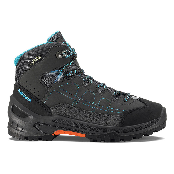 Lowa Approach GTX Mid Junior - Anthracite & Turquoise - Baker's Boots and Clothing