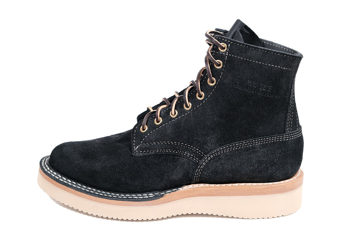 Standard Black Roughout Rambler by White's Boots - Baker's Boots and Clothing