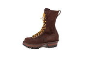 Standard White's Boots Smoke Jumper Lace to Toe Brown R/O - Baker's Boots and Clothing