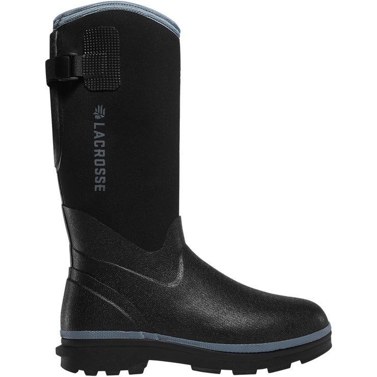 "LaCrosse Women's Alpha Range 12"" Black/Cerulean 5.0MM - Baker's Boots and Clothing"
