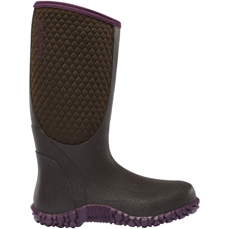 "LaCrosse Women's Alpha Lite 14"" Chocolate/Plum 5.0MM - Baker's Boots and Clothing"