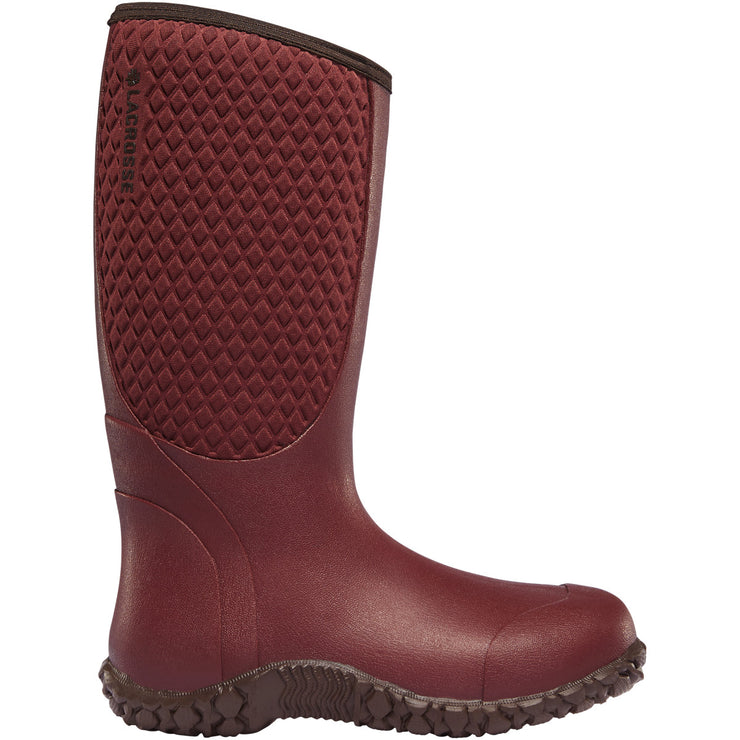 "LaCrosse Women's Alpha Lite 14"" Brick Red 5.0MM - Baker's Boots and Clothing"
