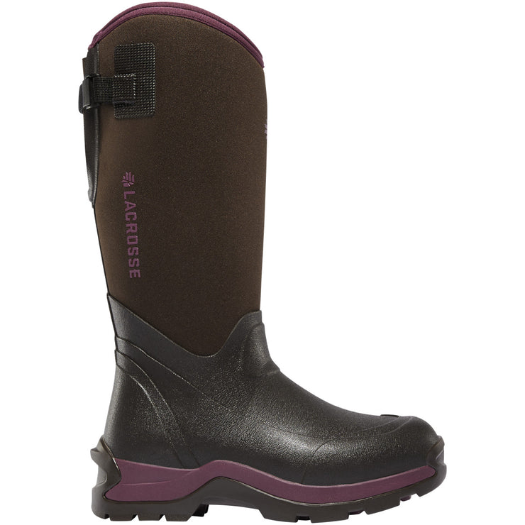 "LaCrosse Women's Alpha Thermal 14"" Chocolate/Plum 7.0MM - Baker's Boots and Clothing"