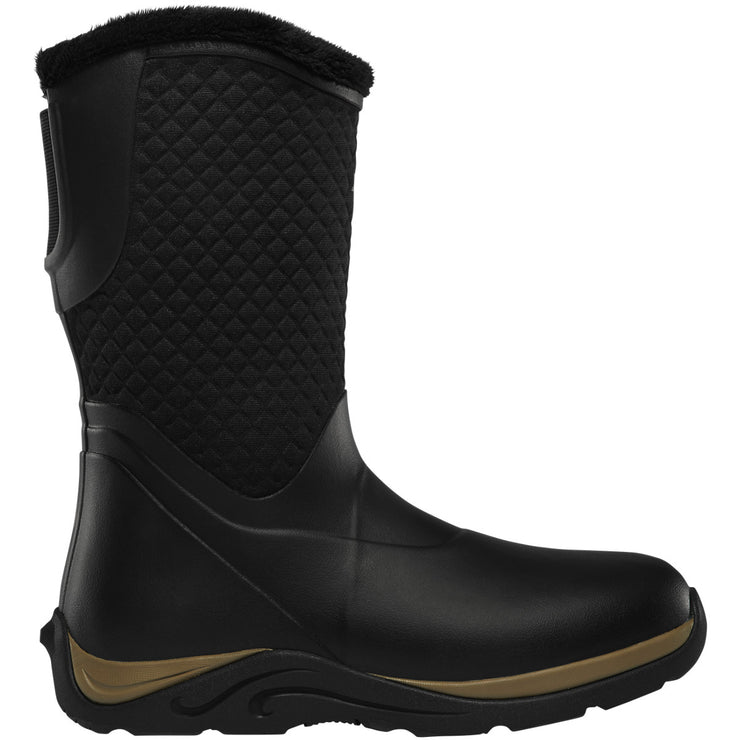 "LaCrosse Women's Alpha Cozy 10"" Black/Tan 4.0MM - Baker's Boots and Clothing"