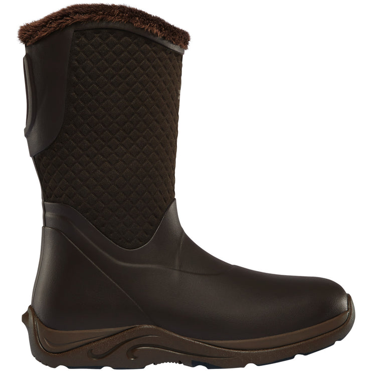 "LaCrosse Women's Alpha Cozy 10"" Classic Brown 4.0MM - Baker's Boots and Clothing"
