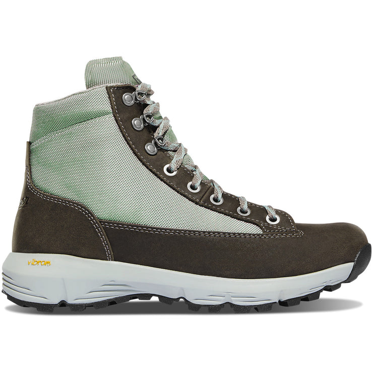 "Danner Women's Explorer 650 6"" Gray/Atlantic Blue - Baker's Boots and Clothing"