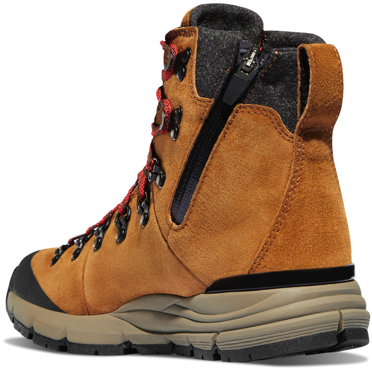 "Danner Women's Arctic 600 Side-Zip 5"" Brown/Red 200G - Baker's Boots and Clothing"