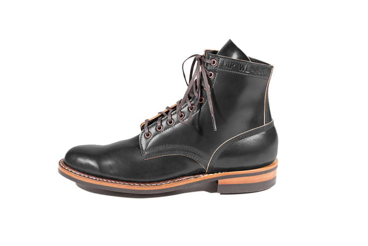 Custom MP Black Shell Cordovan By White's Boots - Baker's Boots and Clothing