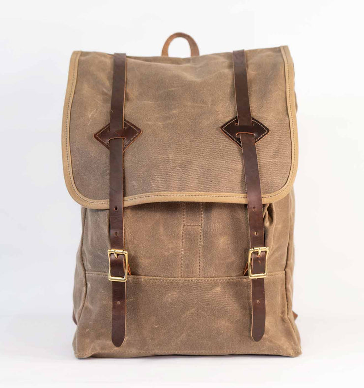 Baker's Waxed Canvas Rucksack - Handmade in the USA - Baker's Boots and Clothing