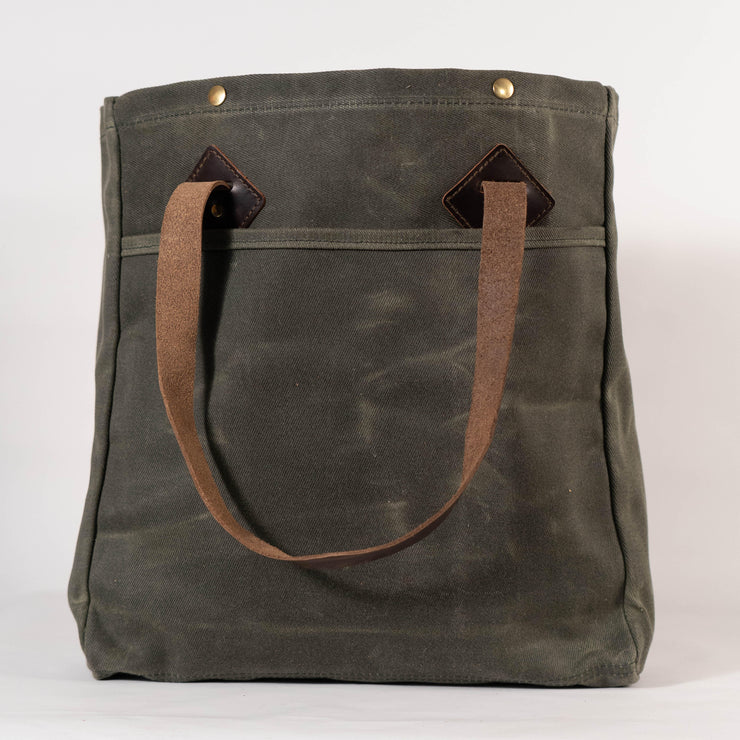 Baker's Fairfield Waxed Canvas Tote Bag - Handmade in the USA - Baker's Boots and Clothing