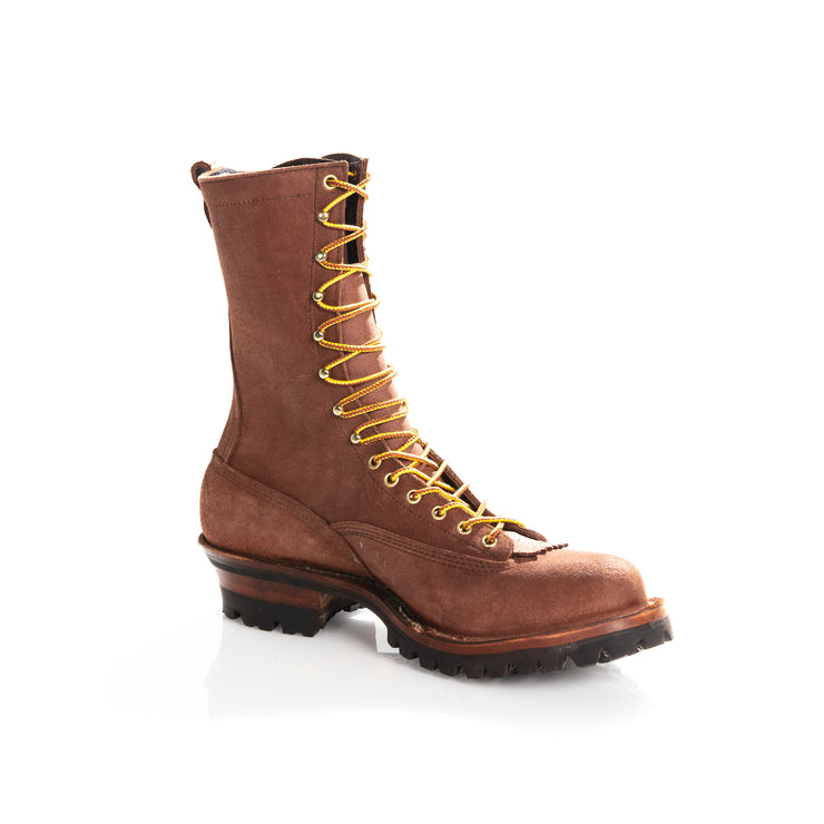 All Brown Roughout By Drew's Boots - Baker's Boots and Clothing