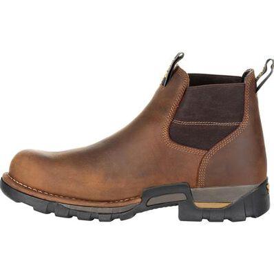 GEORGIA BOOT EAGLE ONE WATERPROOF CHELSEA WORK BOOT - Baker's Boots and Clothing
