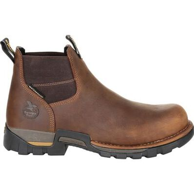 GEORGIA BOOT EAGLE ONE STEEL TOE WATERPROOF CHELSEA WORK BOOT - Baker's Boots and Clothing