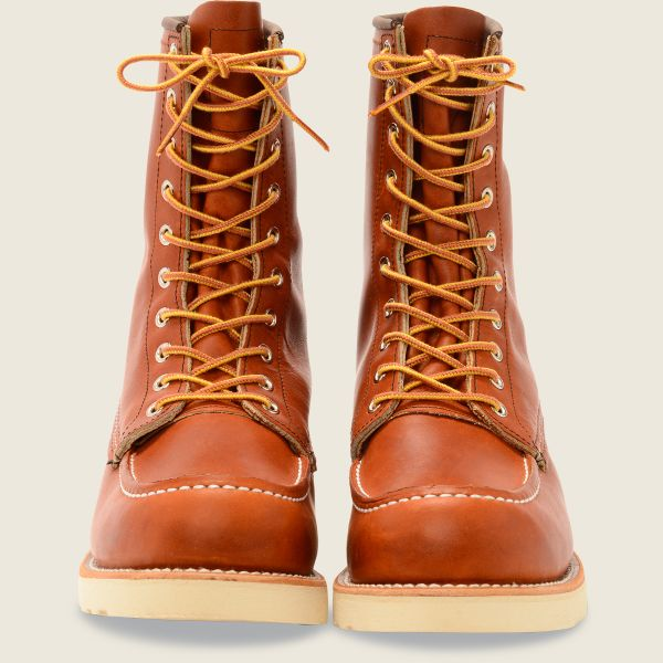 Red Wing Heritage - Men's Classic Moc 8-Inch Boot - Oro Legacy Leather - Style 877 - Baker's Boots and Clothing