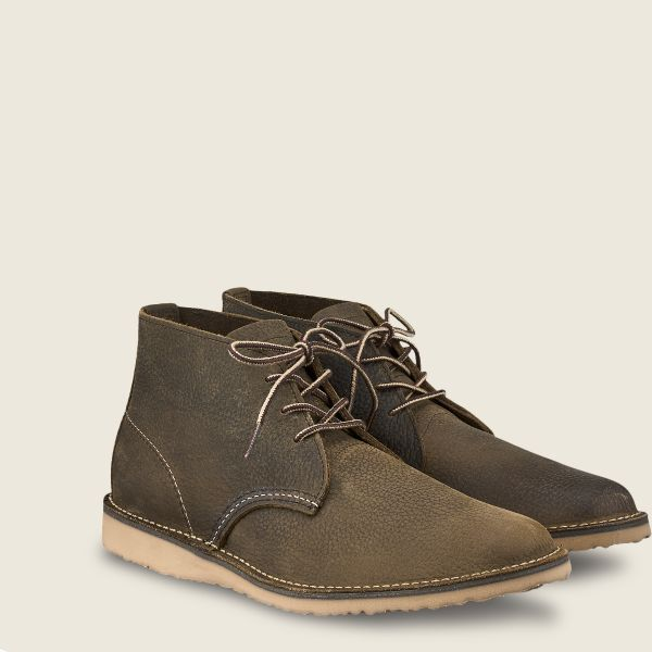 Red Wing Heritage - Men's Weekender Chukka - Olive Brown Roughneck Leather - Style 3327 - Baker's Boots and Clothing