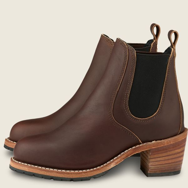 Red Wing Heritage - Women's Harriet Heeled Boot - Mahogany Oro-Iginal Leather - Style 3392 - Baker's Boots and Clothing