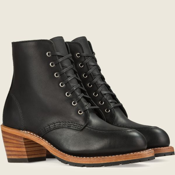 Red Wing Heritage - Women's Clara Heeled Boot - Black Boundary Leather - Style 3405 - Baker's Boots and Clothing