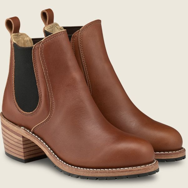 Red Wing Heritage - Women's Harriet Heeled Boot - Pecan Boundary Leather - Style 3474 - Baker's Boots and Clothing