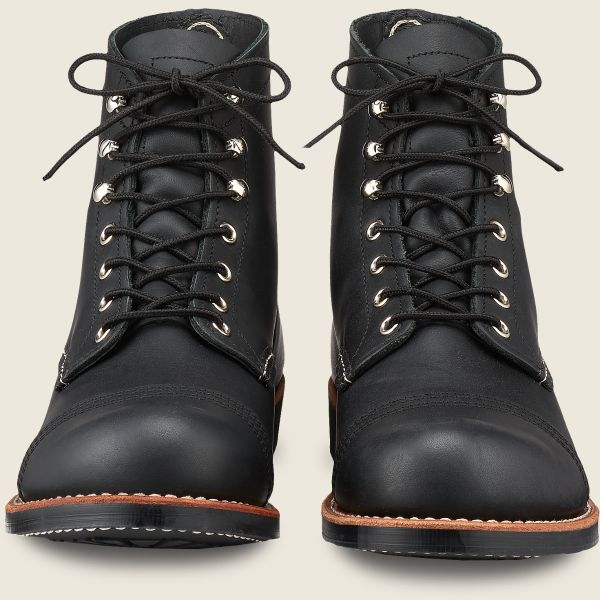 Red Wing Heritage - Men's Iron Ranger 6 Inch Boot - Black Harness Leather - Style 8084 - Baker's Boots and Clothing