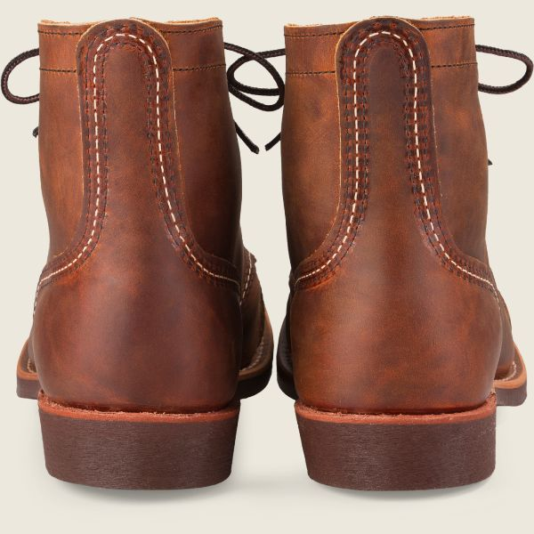 Red Wing Heritage - Men's Iron Ranger 6 Inch Boot -Copper Rough & Tough Leather - Style 8085 - Baker's Boots and Clothing