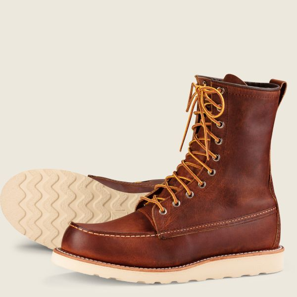 Red Wing Heritage - Men's Classic Moc 8-Inch Boot - Copper Rough & Tough Leather - Style 8830 - Baker's Boots and Clothing