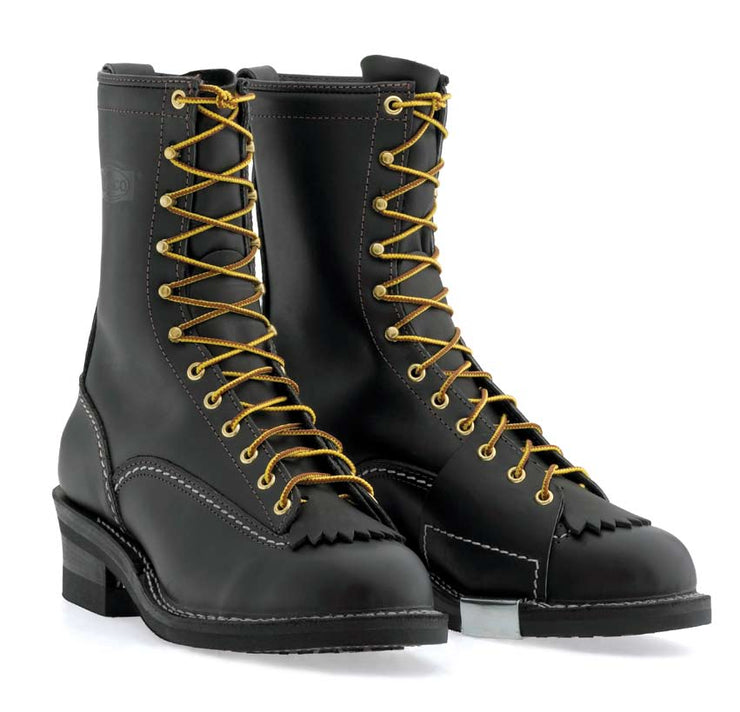 Standard Wesco Highliner 10''  - #430 Vibram® Mini Vib Sole - 9710 - Baker's Boots and Clothing