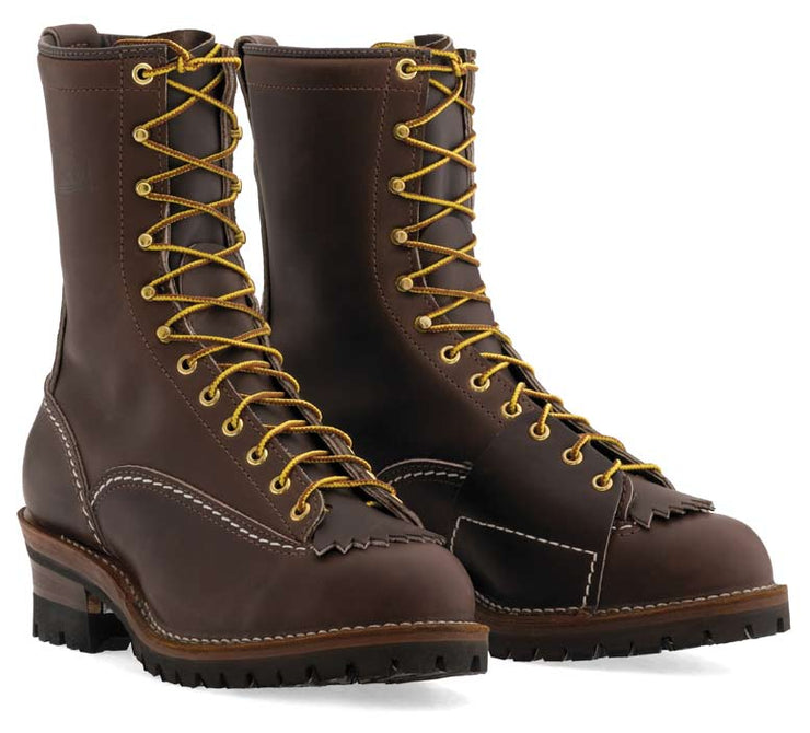 Standard Wesco Highliner Brown 10''  - #100 Vibram® Lug Sole - BR9710100 - Baker's Boots and Clothing