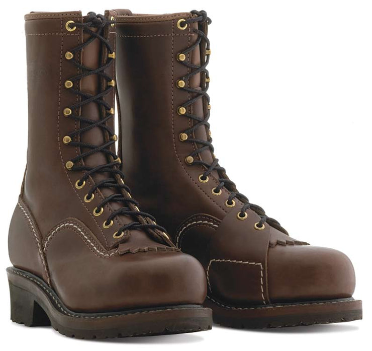 Standard Wesco Voltfoe - 10'' - Brown Leather - EHBR57101270 - Baker's Boots and Clothing