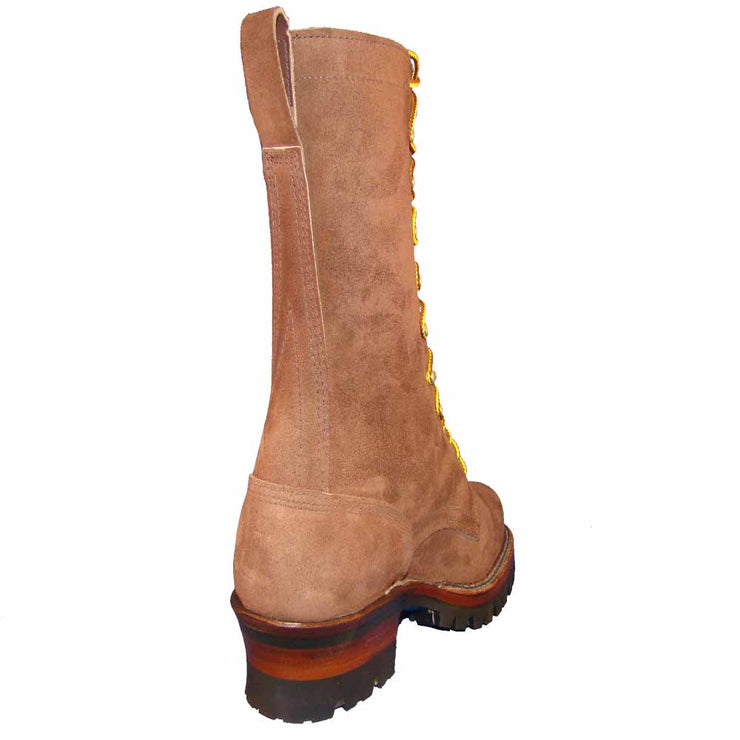 "Standard White's Boots Brown Rough Out Smoke Jumper 12"" - Baker's Boots and Clothing"