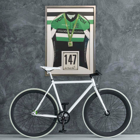 Simple Elegant Cycling Jersey framed by the Quality Framing Co