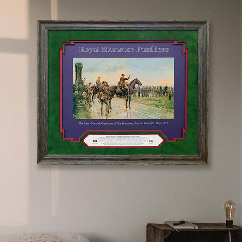 The Munster Fusiliers at Aubers Ridge by the quality framing company