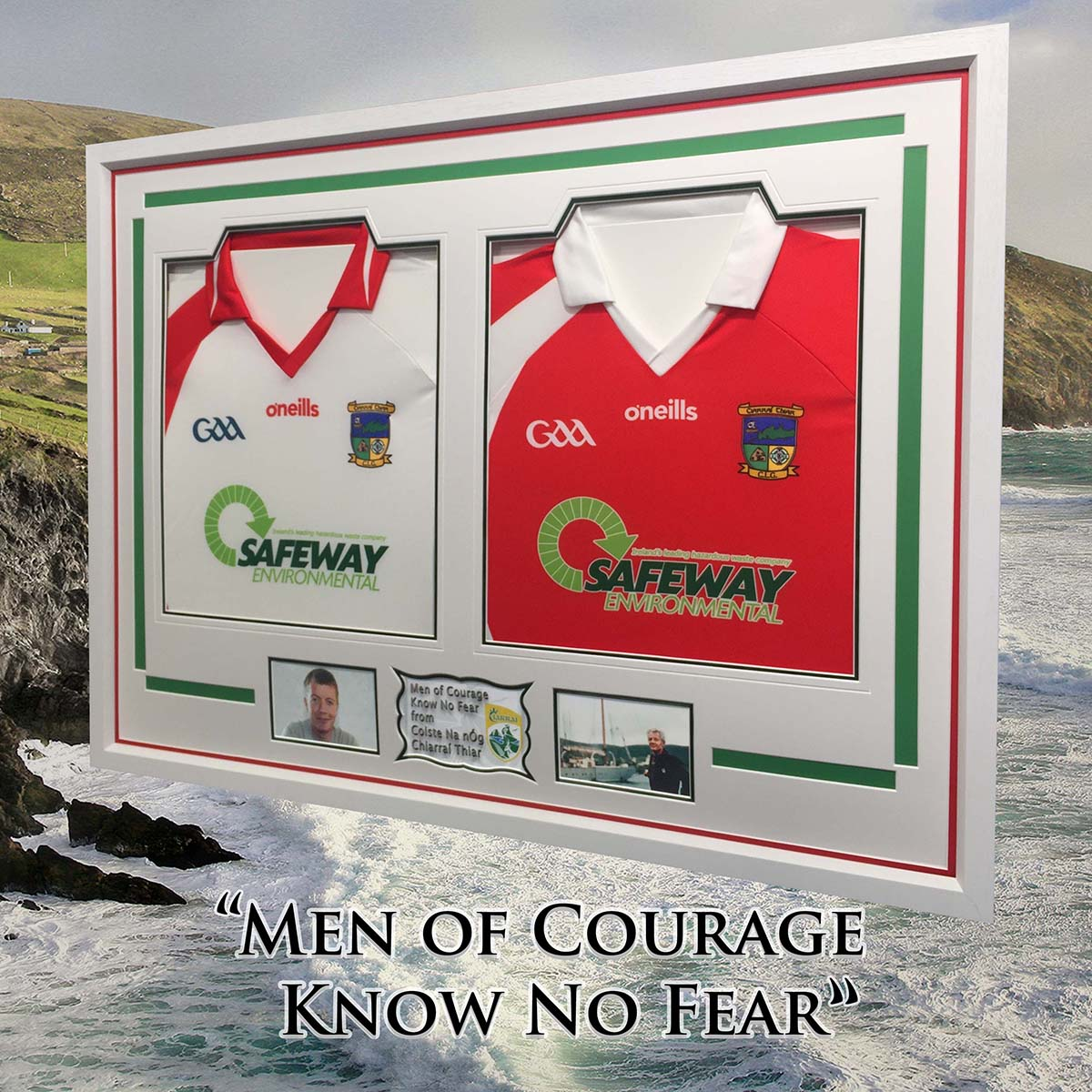 Framed Jerseys for Men of Courage & the Wild Atlantic - with inscription