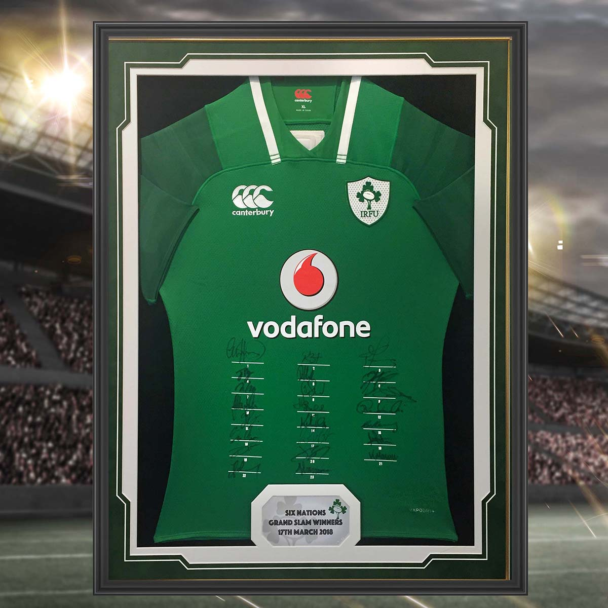 International Rugby Jersey Frame - with caption