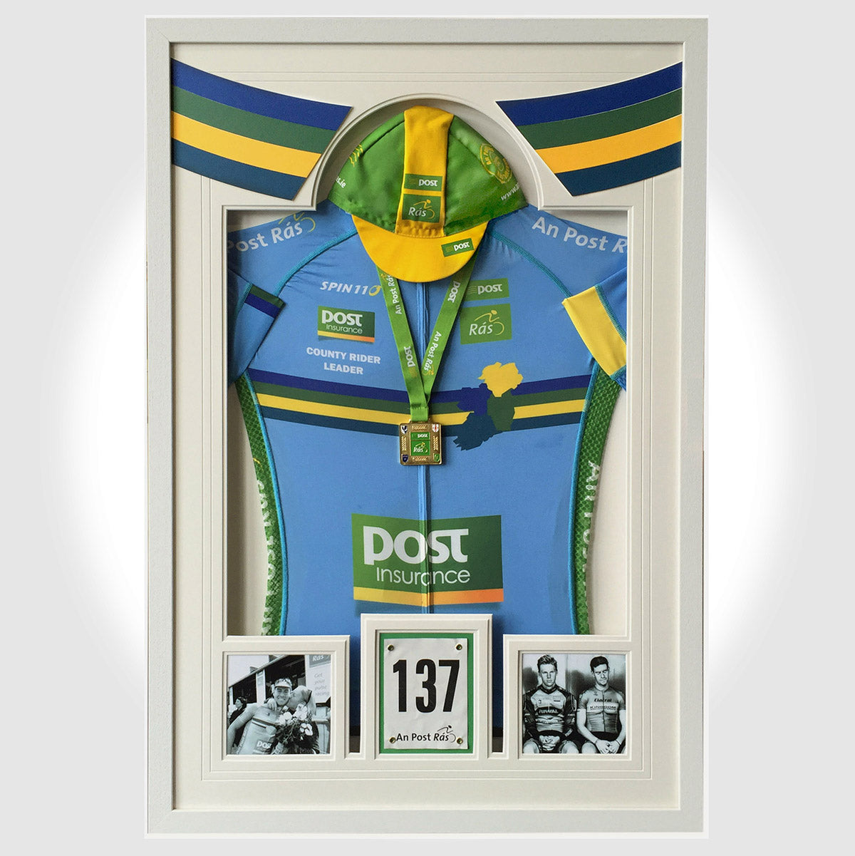 Cycling Jersey frame - with cap, medal & photo