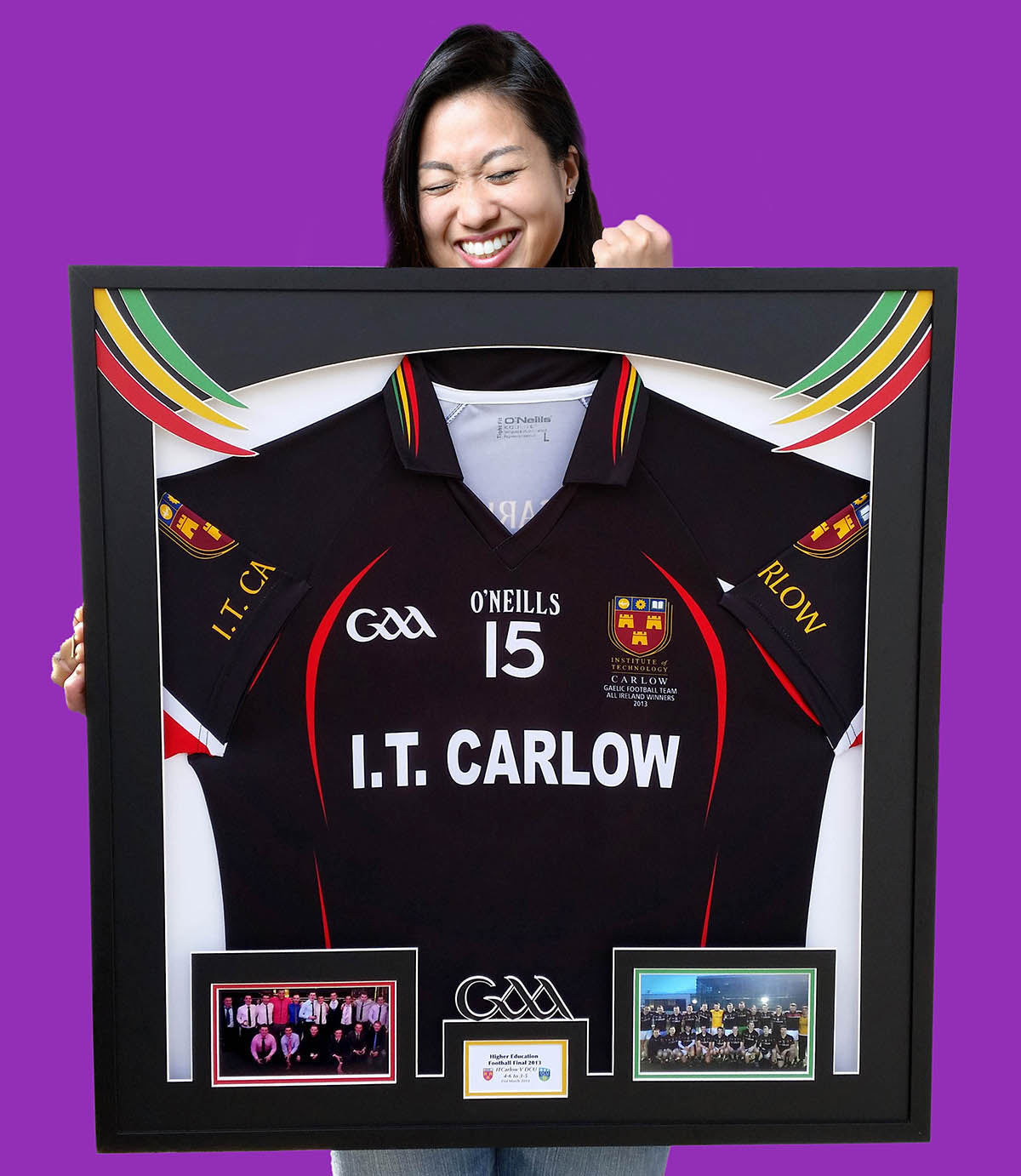 Colleges GAA football jersey frame - with graphic design elements