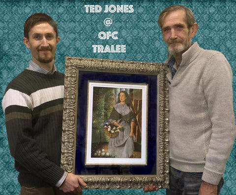 Artist Ted Jones and Richard Cleary