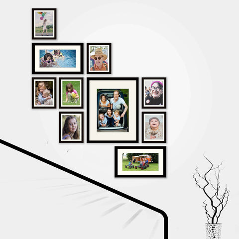 Stairway Picturewall4U-  10 set Frame Collection