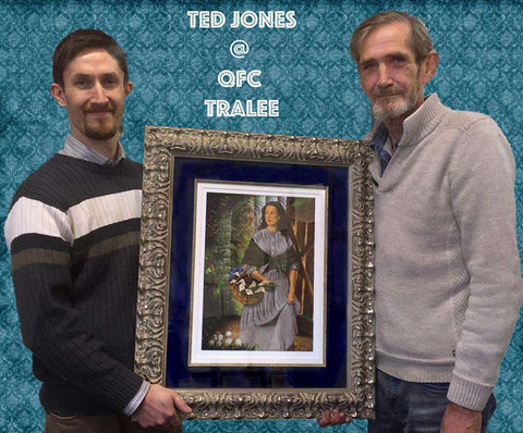 Richard with the artist Ted Jones & a Signed Ltd Edtion framed in an Italian handmade Frame