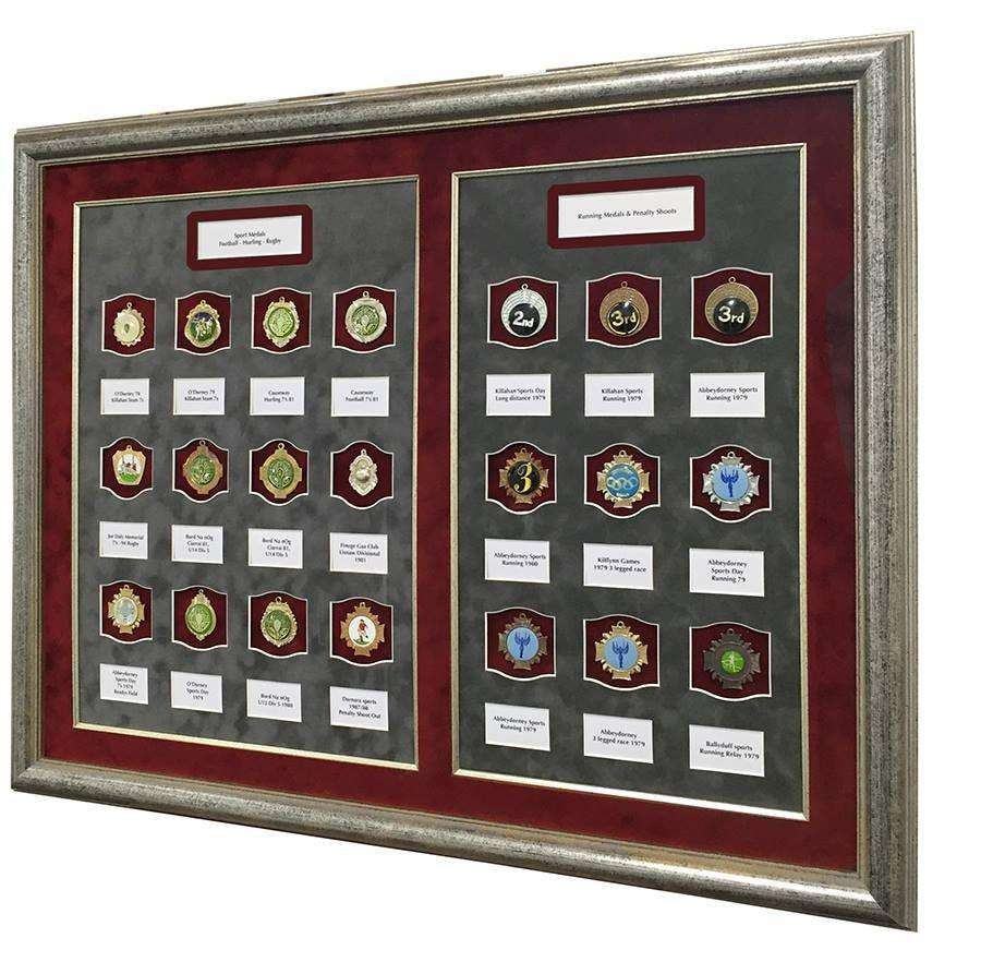 Captioned Sports Medal Frame