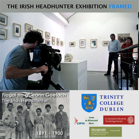 Natural Ashe Frames made for The Irish Headhunter Exhibition in Trinity College