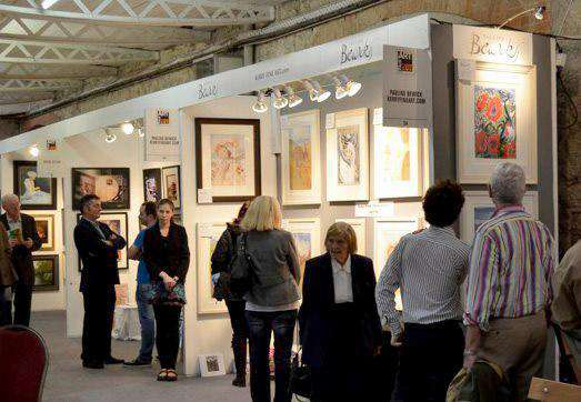 Our Stand at the Art Fair in the RDS in 2011 selling Pauline Bewick Ltd Editions