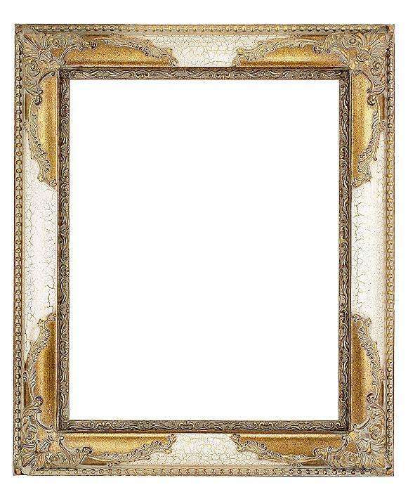 "3"" Ivory/Gold Decorative Picture Frame-qfc.ie"